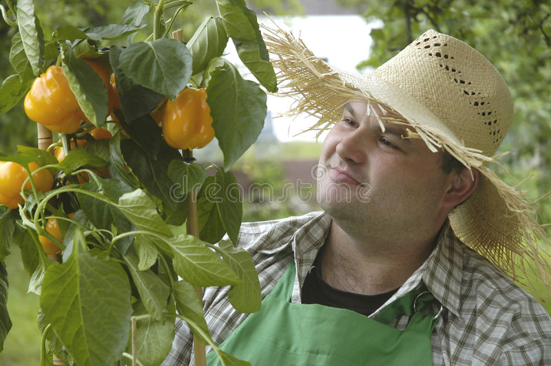Gardener: proud stock photography