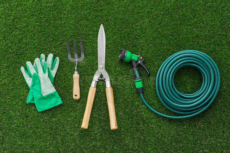Gardener tools royalty free stock photography