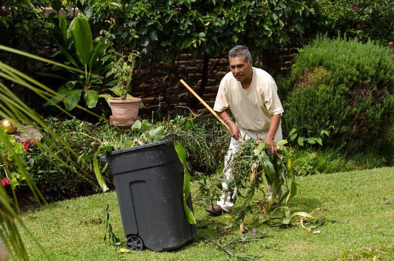 Gardener at work stock photo
