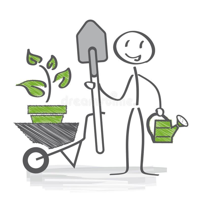 Gardener royalty free illustration