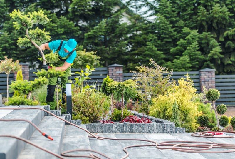 Gardener Working in a Garden royalty free stock images