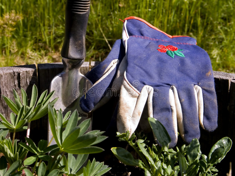 Download Gardeners Gloves And Hand Shovel Stock Image - Image: 729079