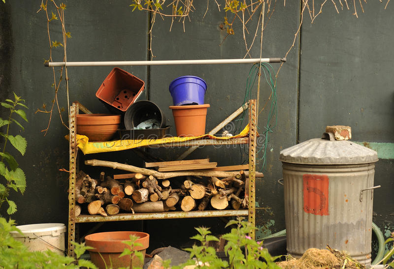 Download Gardeners junk pile stock photo. Image of related, plantpots - 24840706