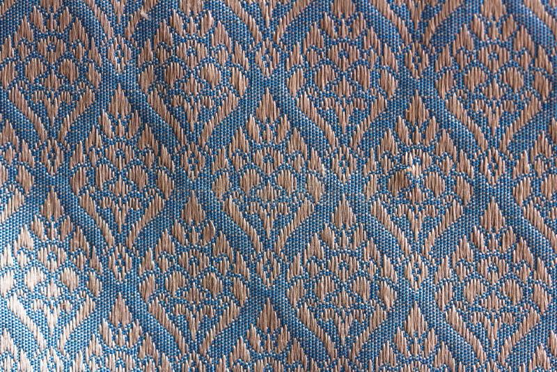 Gardenia конструировал тайский шелк стоковое изображение