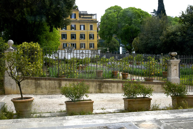 Gardenin το Galleria Borghese Ρώμη Ital στοκ φωτογραφία