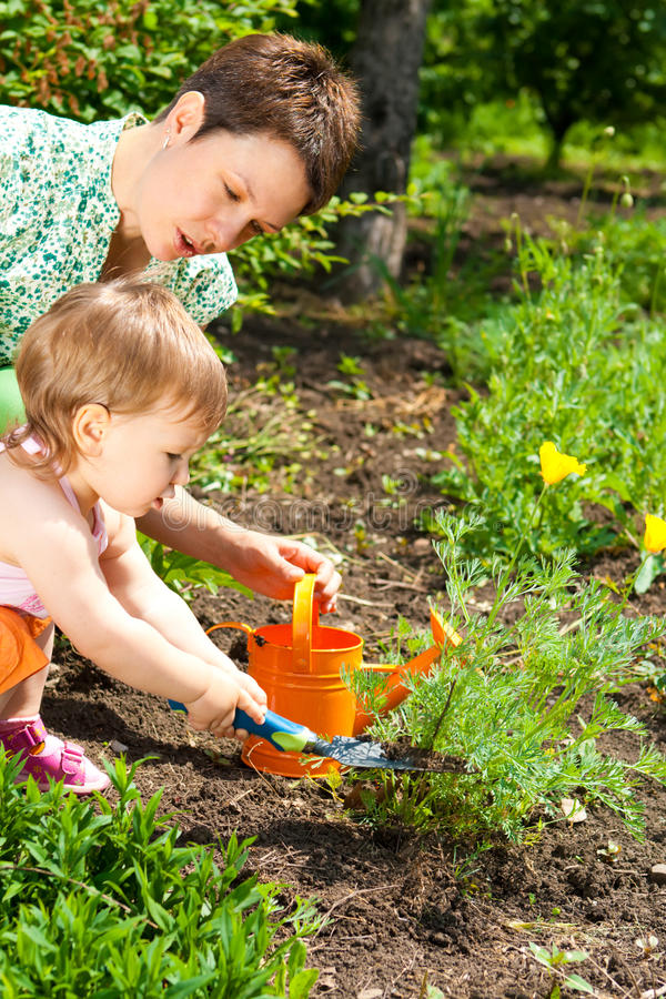 Download Gardening stock image. Image of person, little, help - 10501761