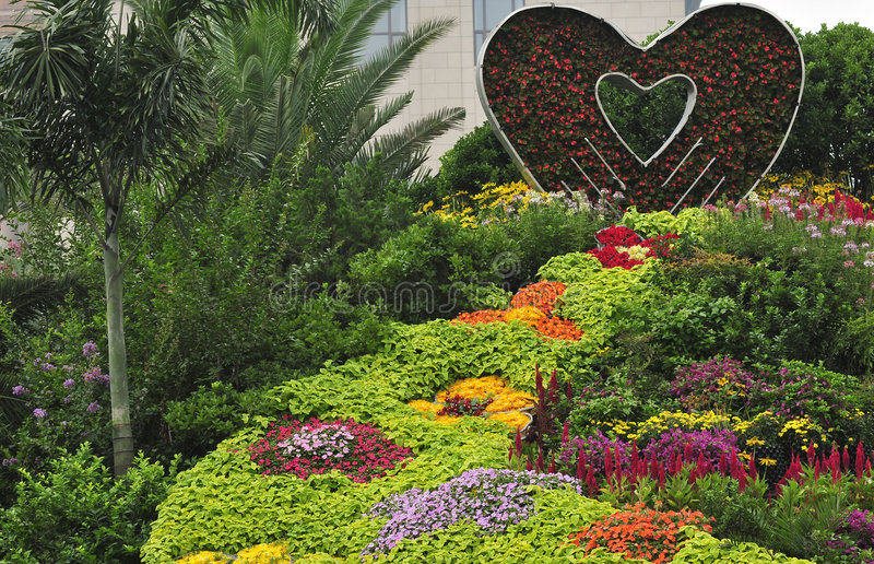 Gardening. In beijing city, flower art royalty free stock images