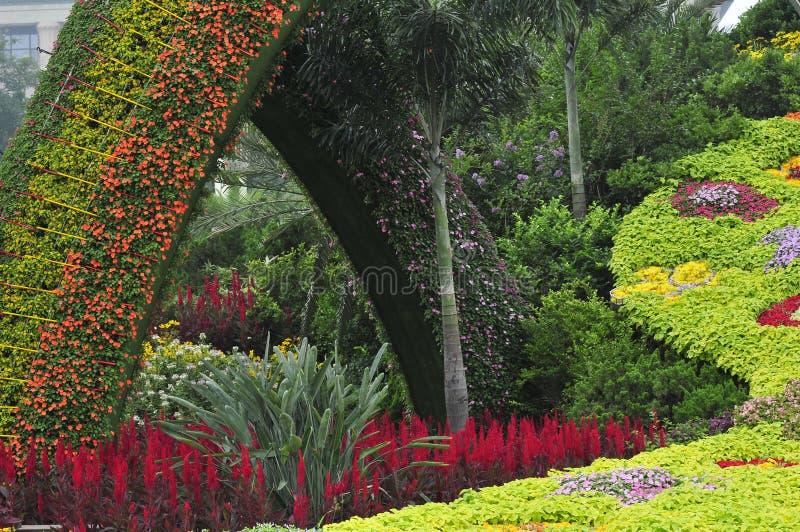 Gardening. In beijing city, flower art stock image