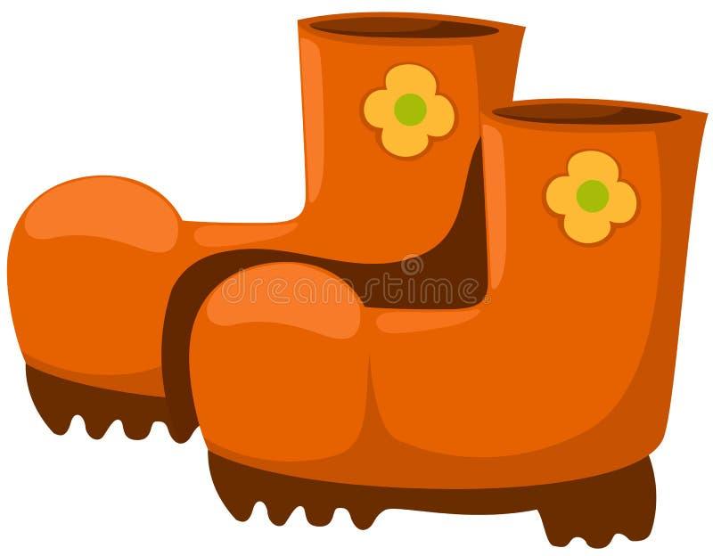 Gardening boots vector illustration