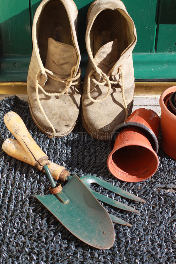 Gardening Boots royalty free stock photo