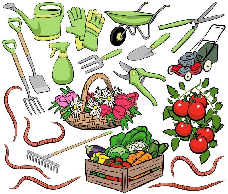Gardening clip art stock illustration
