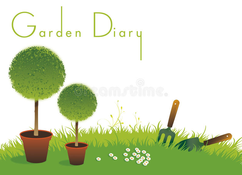 Gardening Diary Cover vector illustration