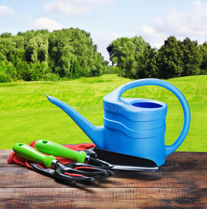 Gardening equipment and tools stock image image of for Different tools and equipment in horticulture