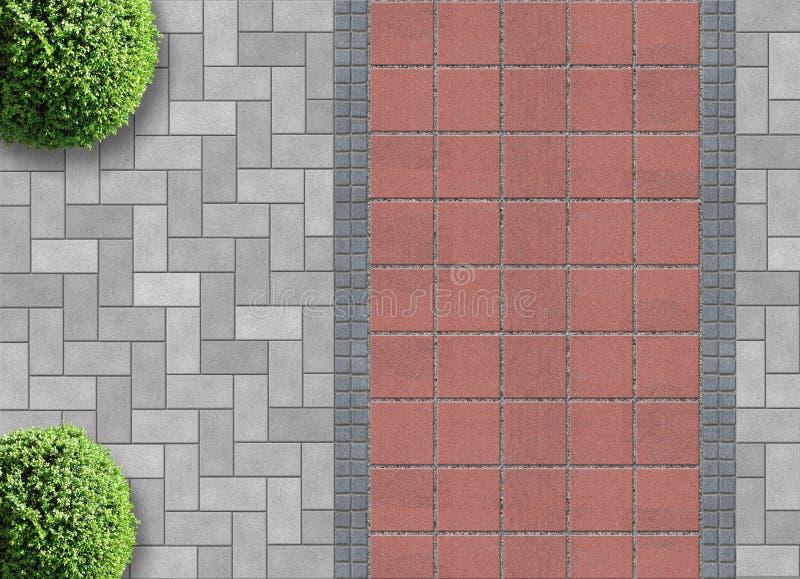 Gardening exterior detail vector illustration