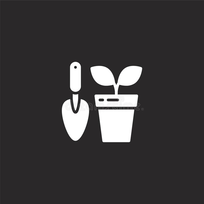 gardening icon. Filled gardening icon for website design and mobile, app development. gardening icon from filled hobbies stock illustration