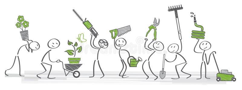 Gardening ilustration vector illustration