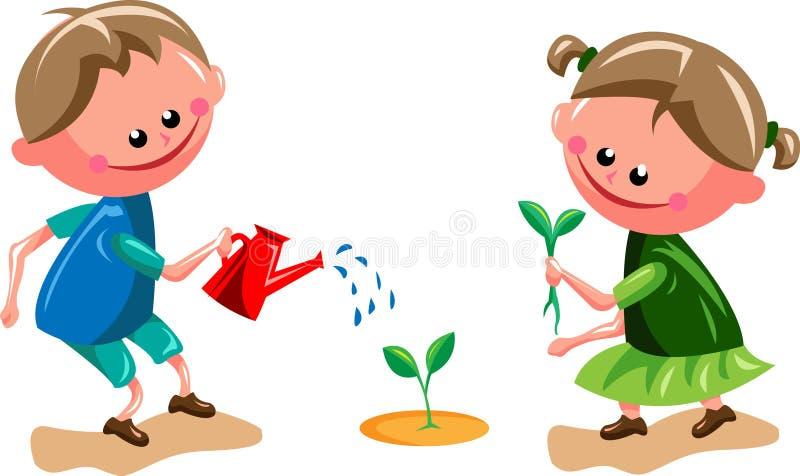 Gardening kids stock vector. Illustration of ecology ...