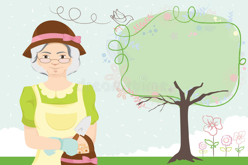 Download Gardening lady stock vector. Image of leisure, mature - 17226869