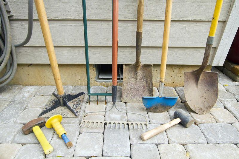 Gardening and Landscaping Tools royalty free stock image