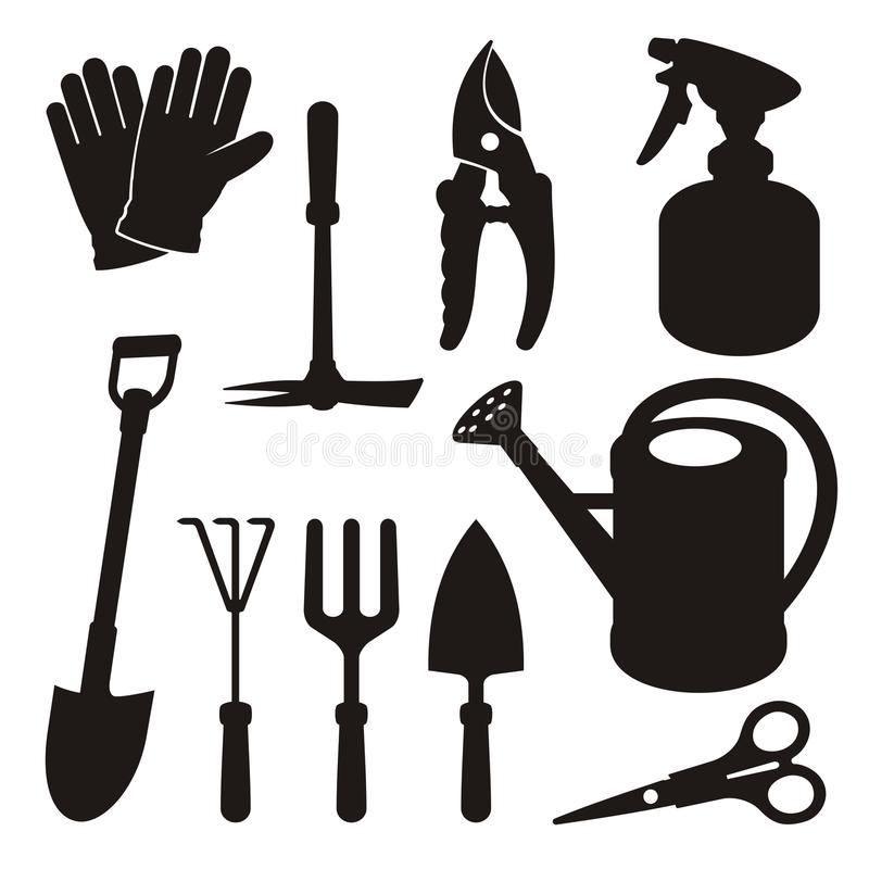 Download Gardening Silhouettes Royalty Free Stock Images - Image: 25492809