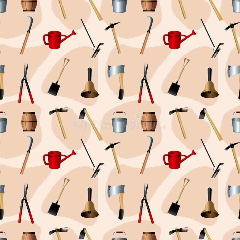 Download Gardening Tools Seamless Pattern Stock Vector - Image: 23820480