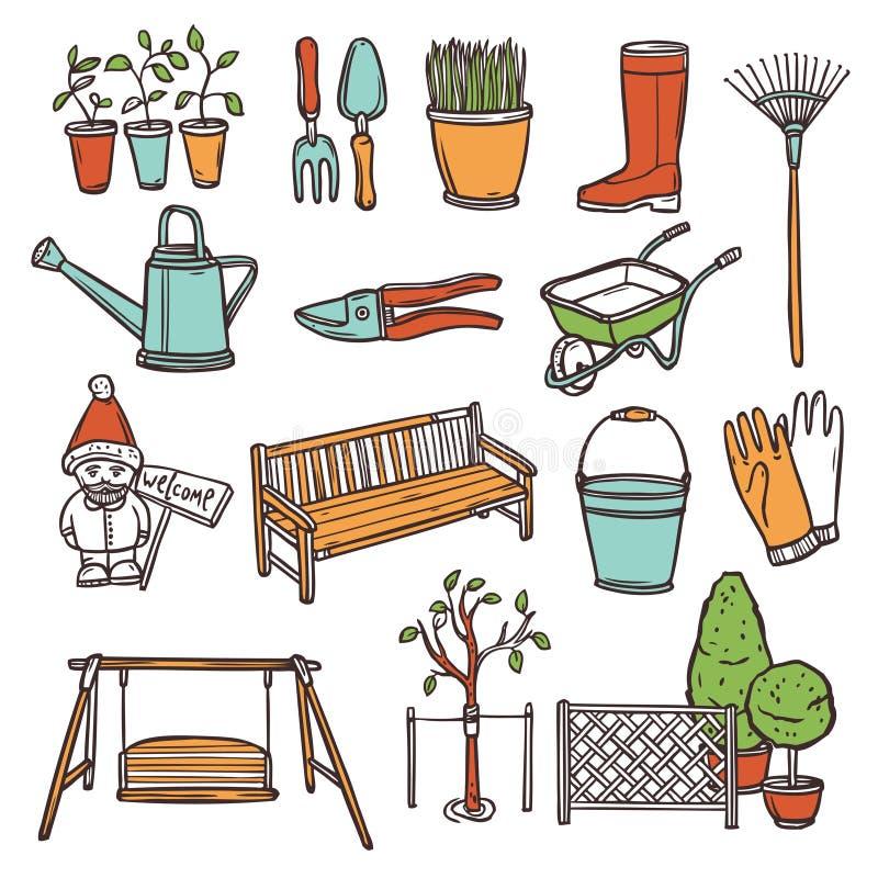 Gardening Tools Set vector illustration