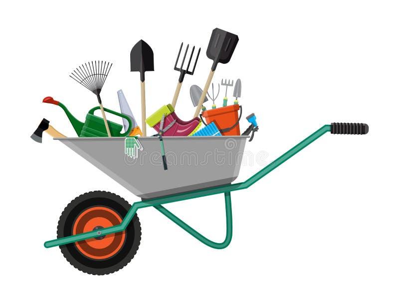 Gardening tools set. Equipment for garden royalty free illustration