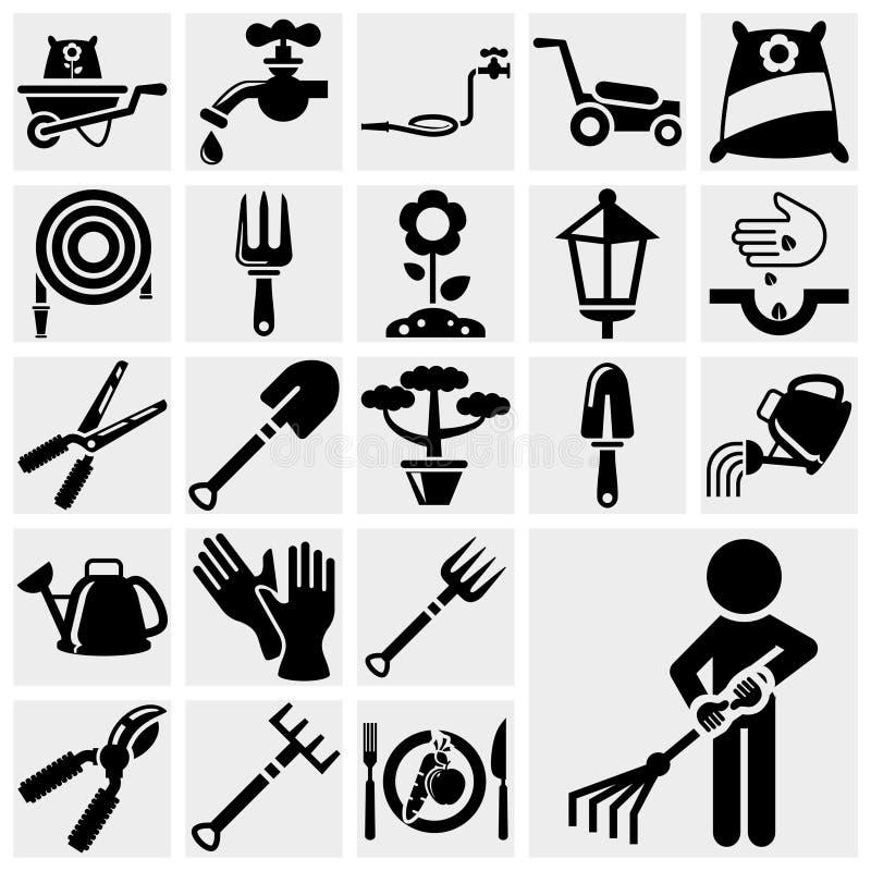 Download Gardening vector icon set. stock vector. Image of pitchfork - 31426959