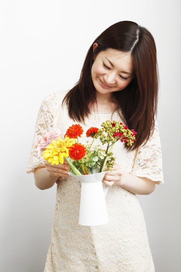 Download Gardening women stock image. Image of flower, green, japan - 20056925