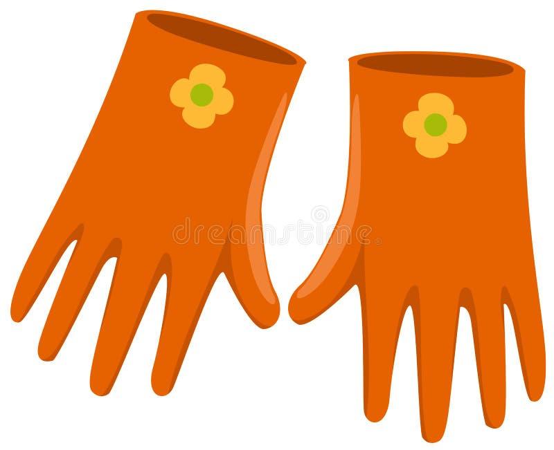 gardenning的手套 皇族释放例证