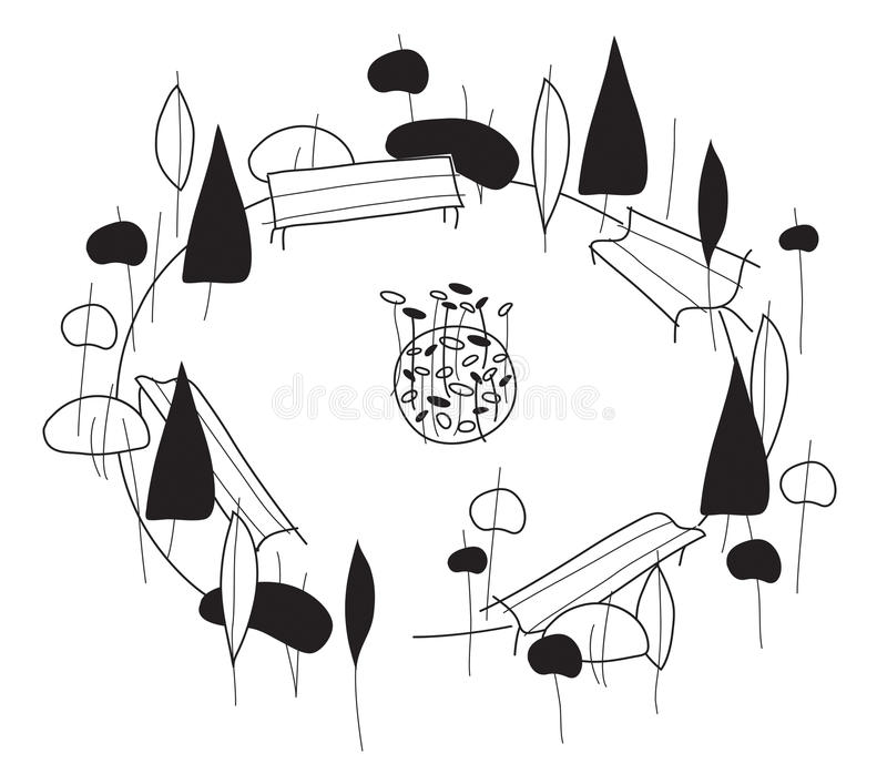 Gardens vector illustration