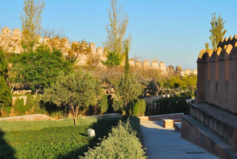 Gardens Alcazaba Royalty Free Stock Photos