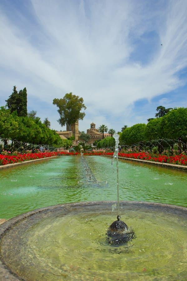 Gardens at Alcazar, Cordoba, Spain royalty free stock images