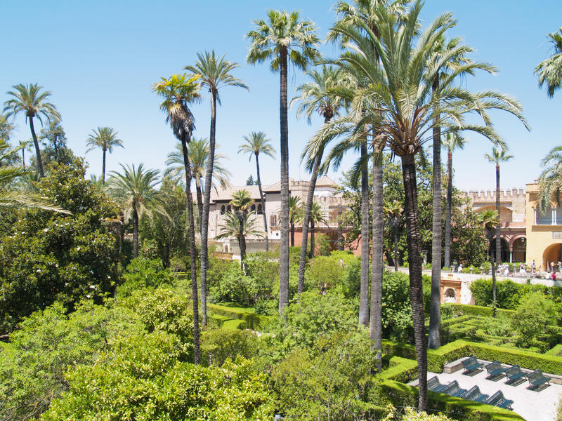 Download Gardens Of The Alcazar Of Seville, Spain Stock Image - Image: 26826353