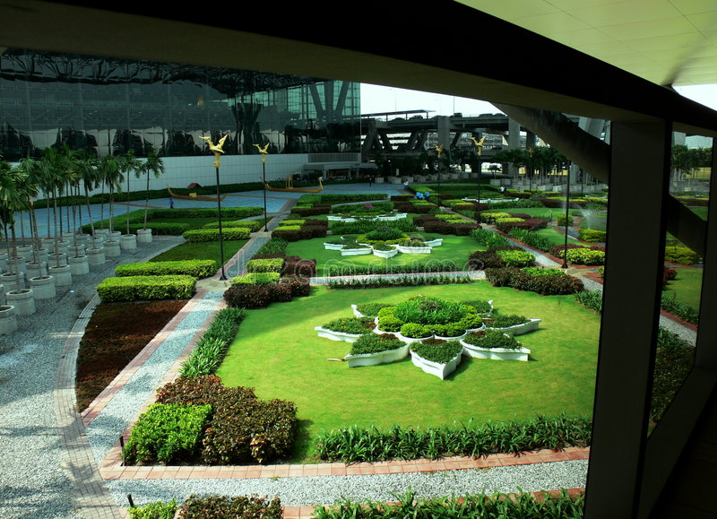 Download Gardens in Bankok stock photo. Image of architecture, grand - 2355968