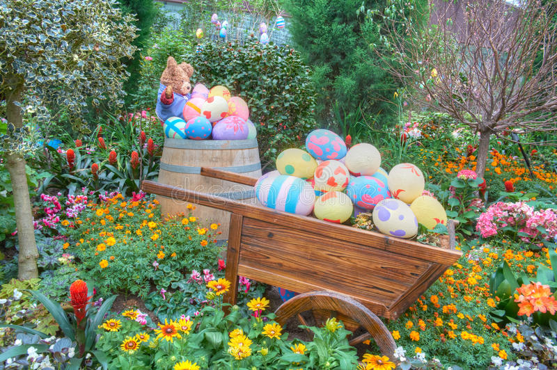 Gardens by the Bay, Flower Dome: Easter & Spring. Gardens by the Bay, Flower Dome: Easter and Spring display stock images