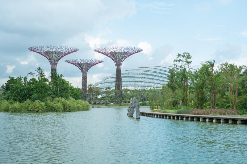 Gardens by the Bay, Singapore stock photos