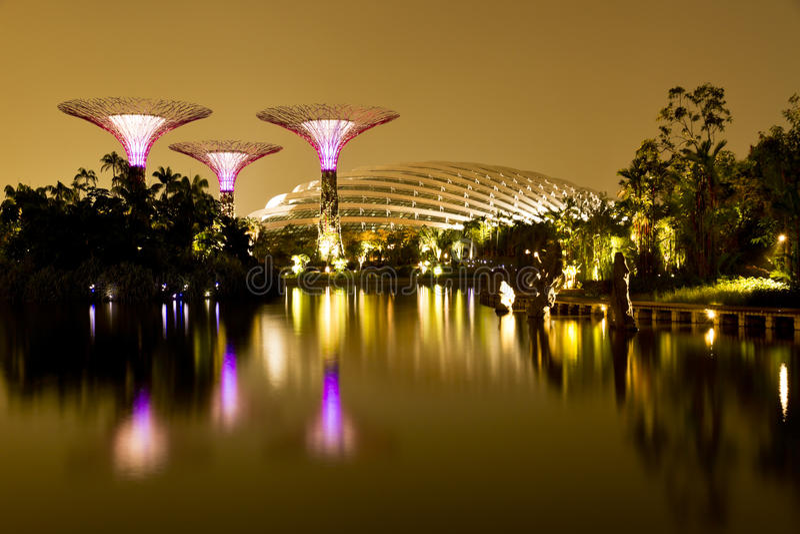 Gardens by the Bay Singapore stock photos