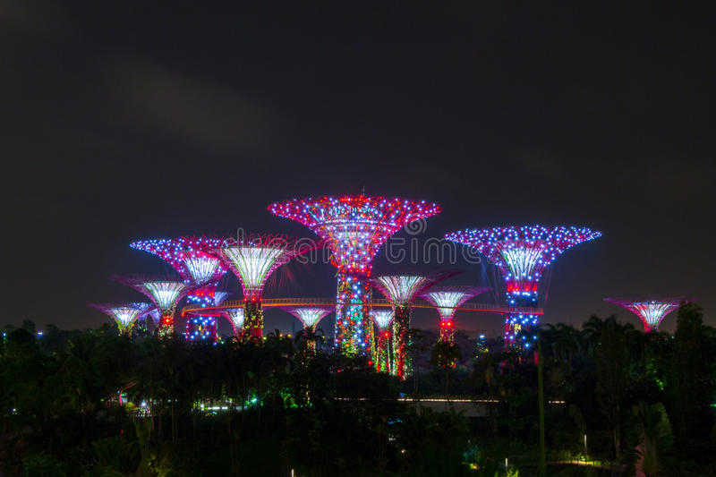 Gardens by the bay Singapore stock photography