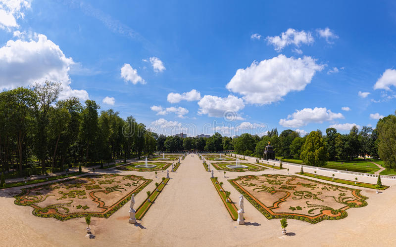 Gardens in Bialystok stock images