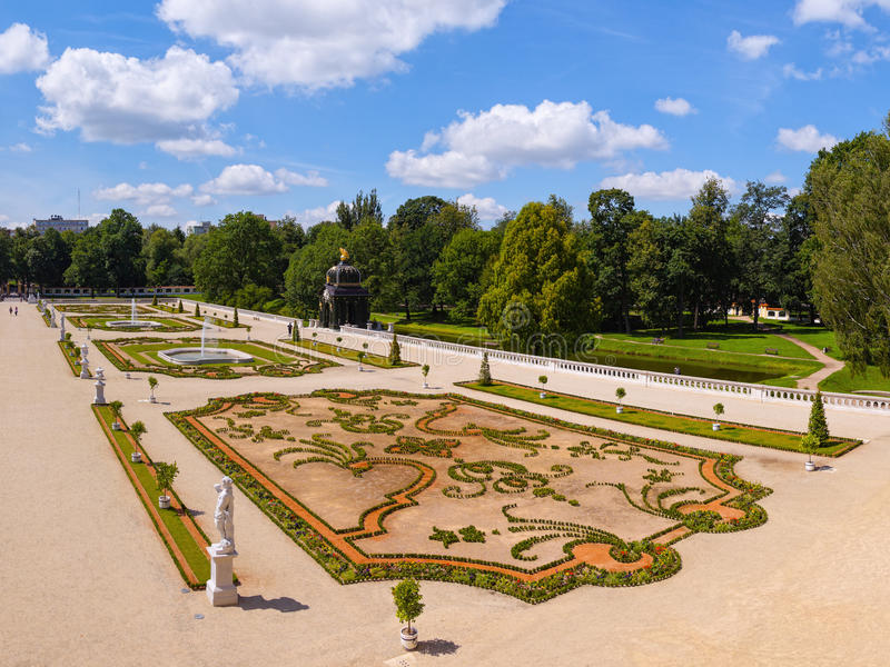 Gardens in Bialystok royalty free stock photography
