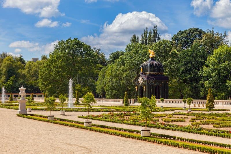 Gardens in Bialystok stock photography