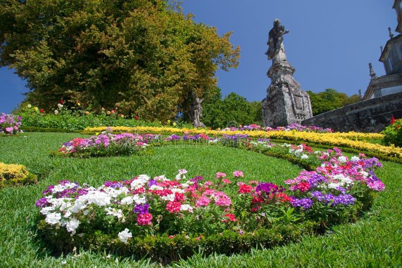 Gardens of Bom Jesus do monte. Braga (Portugal stock photo