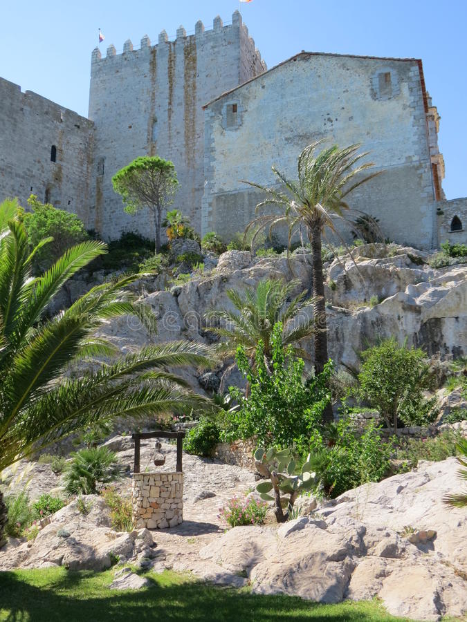 Download Gardens Castello Papa Luna Peniscola, Spain Stock Photo - Image of clear, century: 39514560