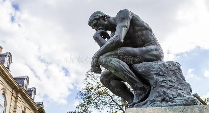 In the gardens of the Rodin musem, Paris, France royalty free stock photo