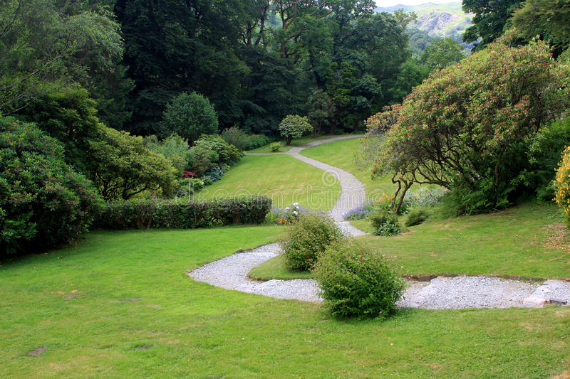 Gardens at the Rydal Mount, England royalty free stock images