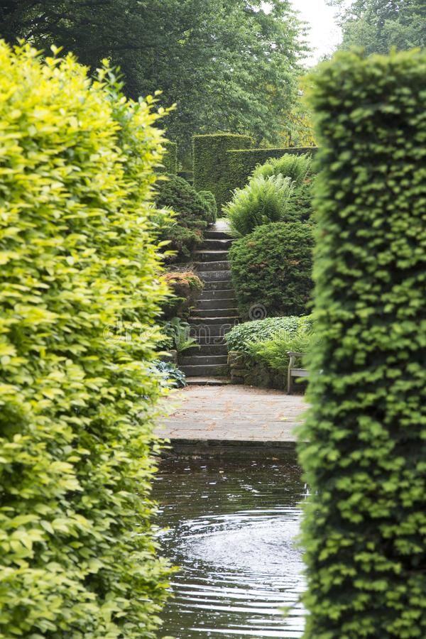 WENTWORTH, UK - June 1, 2018. Gardens set within the grounds of Wentworth Woodhouse. Rotherham, South Yorkshire, UK - June 1, 2018 stock photos