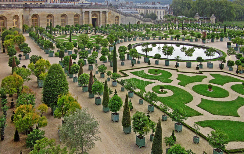 The Gardens of Versailles 1. The Gardens of Versailles occupy part of what was once the Domaine royal de Versailles, the royal demesne of the château of royalty free stock photos