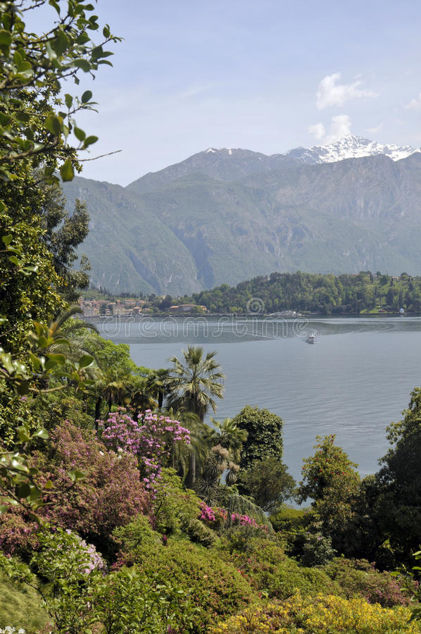 Gardens of Villa Carlotta on Lake Como stock photography