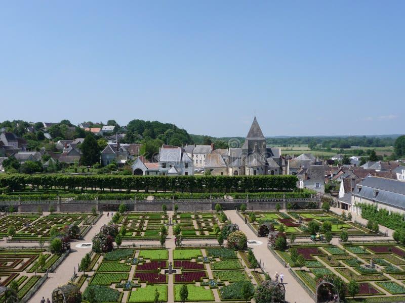 Gardens of Villandry Castle royalty free stock image